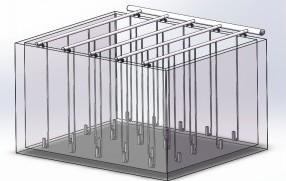 旋流剪切曝气器悬挂安装结构图示/