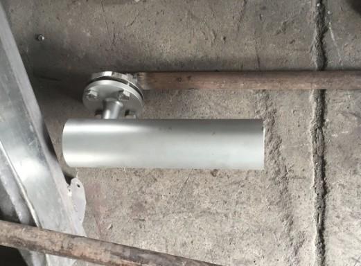 旋流剪切曝气器悬挂安装现场示范机构图