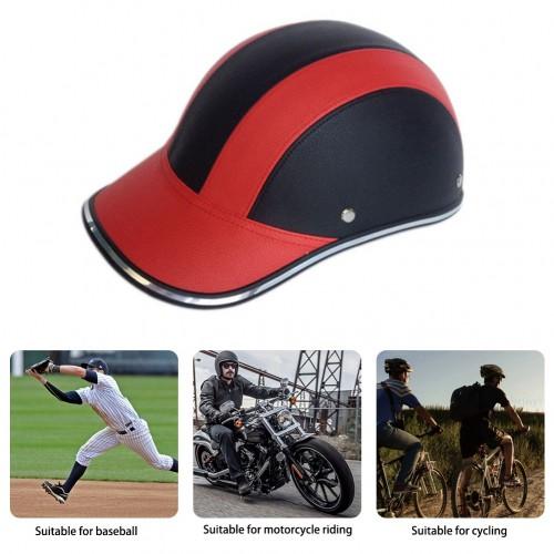 Motorcycle Electric Vehicle Helmet Half Face Motorcycle Helmet Leather Baseball Cap With Long Wing H