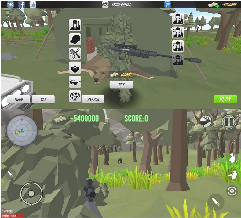像素风格的游戏 狩猎模拟器