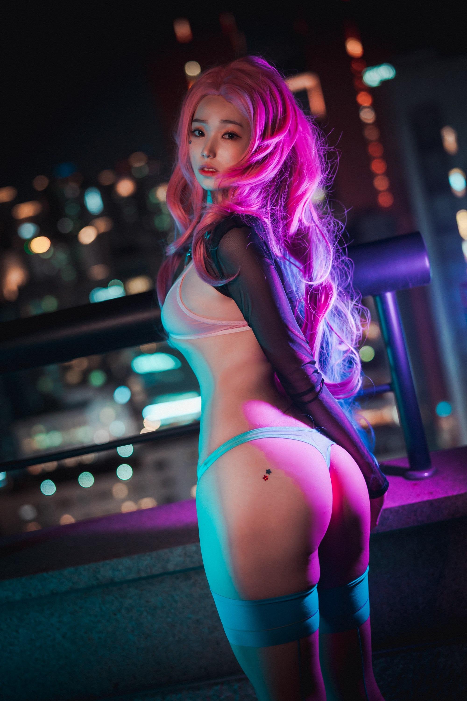 韩国小姐姐Cos《英雄联盟》Seraphine