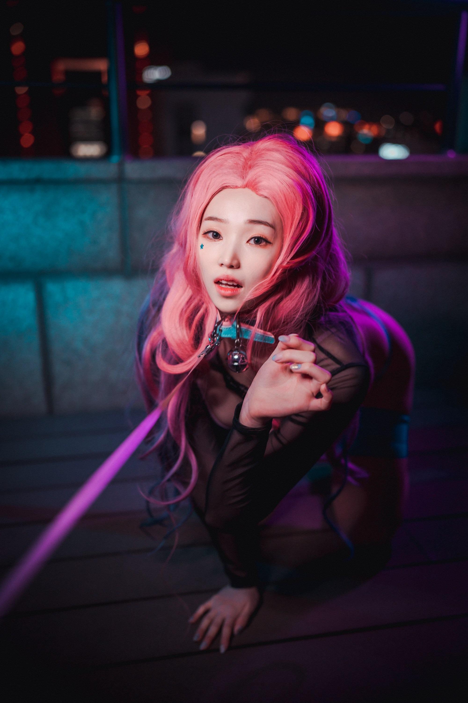 韩国小姐姐Cos《英雄联盟》Seraphine 第9张
